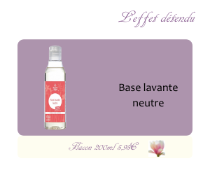 Base lavante neutre