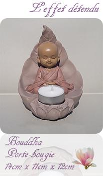 Bouddha fleur de lotus bougeoir