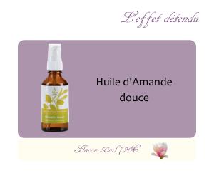 L'huile végétale d'Amande douce