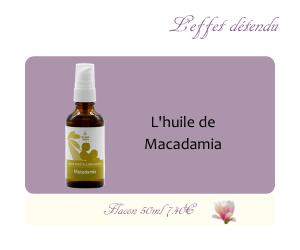 L'huile végétale de Macadamia