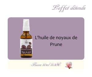L'huile végétale de Noyaux de Prunes
