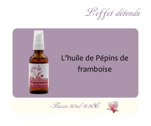 L'huile végétale de Pépin de Framboise