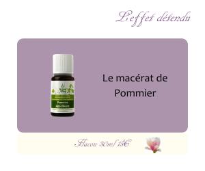 Le macérat de Pommier
