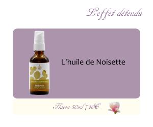 L'huile végétale de Noisette