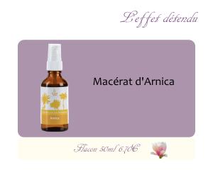 Le macérat huileux d'Arnica