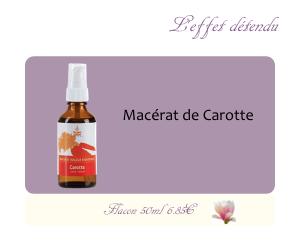 Le macérat huileux de Carotte