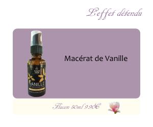 Le macérat huileux de Vanille