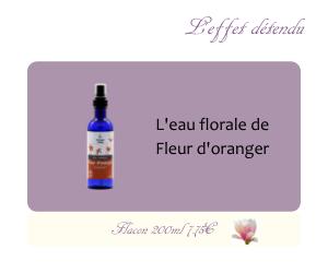 L'eau florale de Fleur d'oranger