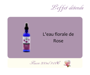 L'eau florale de Rose