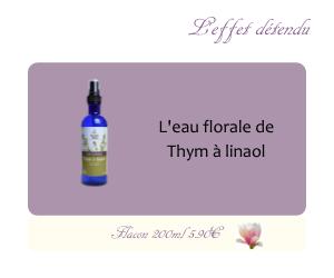 L'eau florale de Thym à linalol