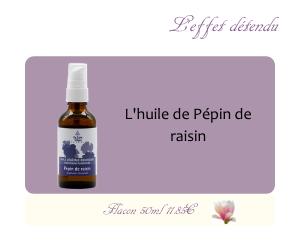 L'huile végétale de Pépins de raisin