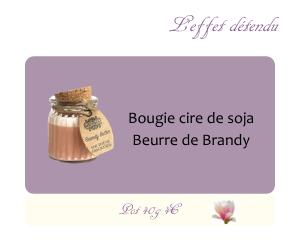 Bougie cire de soja Beurre de Brandy