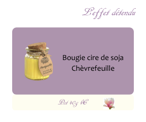 Bougie cire de soja Chèvrefeuille