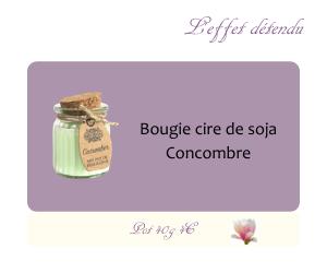 Bougie cire de soja Concombre