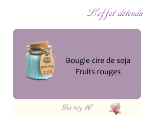 Bougie cire de soja Fruits rouges