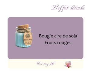 Bougie cire de soja Fruits rouges