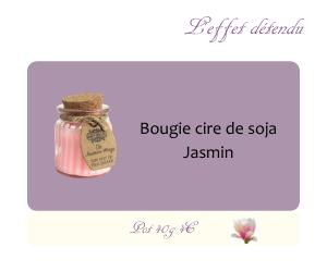 Bougie cire de soja Jasmin