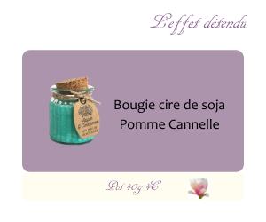 Bougie cire de soja Pomme Cannelle
