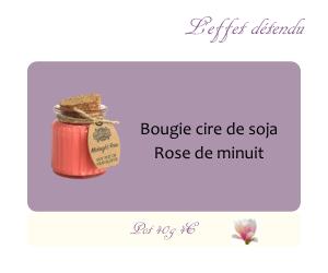 Bougie cire de soja Rose de minuit